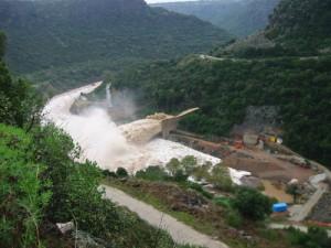 Apertura della diga di Preda'e Othoni (sul fiume Cedrino)